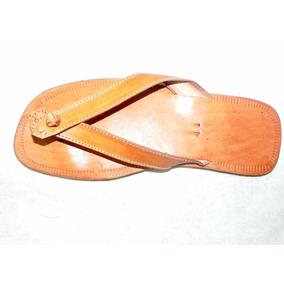 Sandália Chinelo Em Couro 100% Natural Tradicional (unissex)