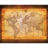 Poster De Mapa Del Mundo Antiguo | Vintage | 41 X 50 Cm