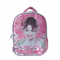 Mochila Espalda Violetta Jardin Con Licencia Disney 12
