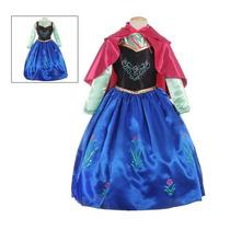 Vestido O Disfraz Ana Frozen Capa Y Zapatos Tallas 2 A 12