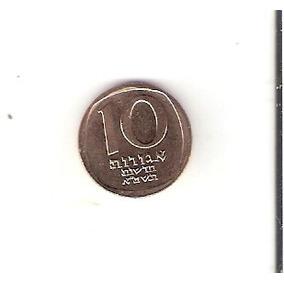 Linda Moeda De Israel De 10 New Agorot 1981 - Vejam A Foto !