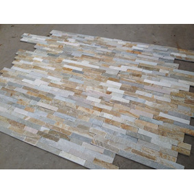 Piedra Natural Placa Panel 60x15 Cm Laja Mix