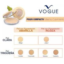 Polvo Compacto Maximo Cubrimiento Vogue Original