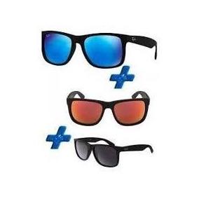 Kit Óculos De Sol Rb 4165 Justin Espelhado Pague 1 Leve 3