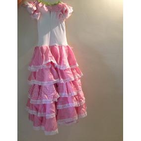 Vestido De Flamenco De Niña Talla 6