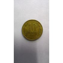 Moeda 10 Pesos Chile 1996