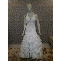 Vestido De Noiva Corpete E Saia Organza E Renda