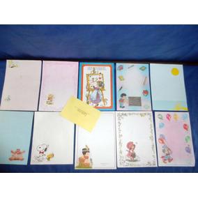 Lote Com 10 Raros Papeis De Carta Antigos E Um Envelope