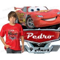 Lembrança De Aniversario Mcqueen Carros Camiseta Infantil