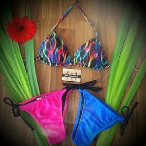 Bikinis Triangulito Estampado Exclusivos Push Up Desmontab.