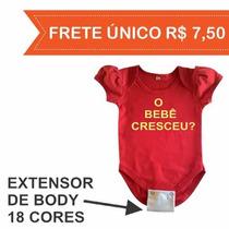 Extensor Body Bebê - Prolongador Body Bebê - 100% Algodão