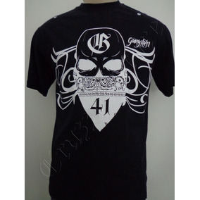 Camiseta Gangsta 41 Rap Hip Hop M Caveira Crazzy Store 70c713b945b