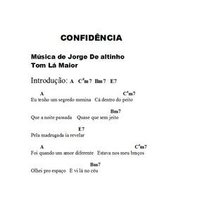 Música Confidência P/ Teclado