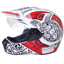 Capacete Moto Bieffe 3 Sport Maori Vermelho Lançamento Biefe