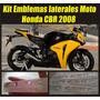 Kit Emblemas 3d Para Moto Honda Cbr Año 2008