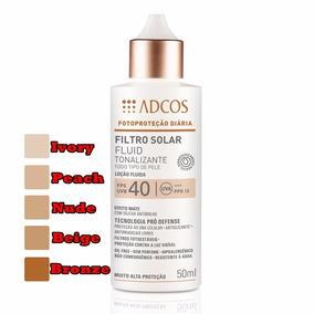 Protetor Filtro Solar Tonalizante Fps40 Fluid Adcos