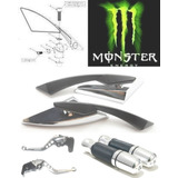Kit Retrovisor Monster Manopla Manete Spencer Fazer 150-250