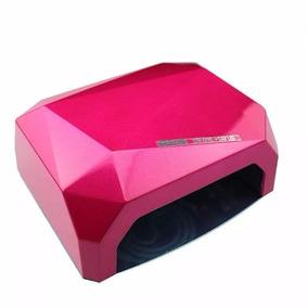 Cabine Forno Uv E Led 36w Bivolt Unhas Gel Fibra Rosa