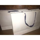 Bolsa De Carton Blanca Lisas 30x42x11 Pack 100 Unidades Ofta