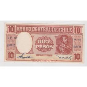 Billete De Chile 10 Pesos Un Condor Sin Circular
