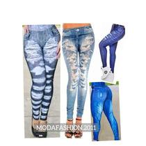 10 Calças Leagging Leg Imita Jeans Fake Revenda Promoção
