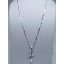 Promoção Corrente Cordão 70cm + Pingente Crucifixo Prata 925