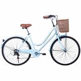 Bicicleta Nueva Para Mujer Aro 26 Color Celeste