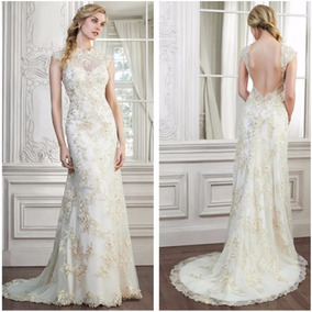 Vestido De Noiva Longo Bordado No Strass E Calda Sereia