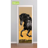 Adesivo Decorativo De Portas Cavalo Cavalgando Mod. 312