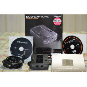 Placa Interface De Audio Compacta Roland Duo Capture Usb