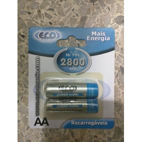 2 Pila Bateria Recargable Aa 2800 Mah Ni-mh 1.2v Marca Eco