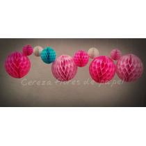 4 Esferas Panal De Abeja Balon 22cm Guirnaldas Papel Adornos