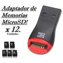 Lector Adaptador Para Memoria Microsd A Usb 2.0 Al Mayor!!