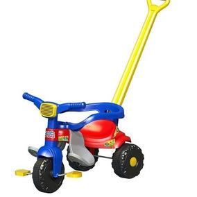 Triciclo Tico Tico Festa Azul Com Aro E Haste Magic Toys