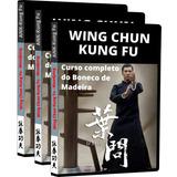 Curso Mudjong Boneco De Madeira Wing Chun Kung Fu + Brindes