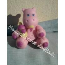 Souvenirs De Hipopótamos En Porcelana Fria