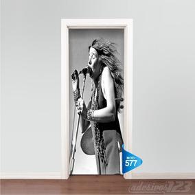 Adesivo 123 Porta Rock Janis Joplin Mod 577