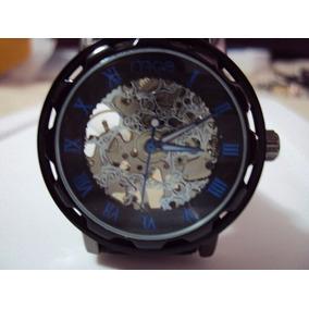 Hermoso Reloj Skeleton Mce Mecanico De Cuerda 43mm Dial