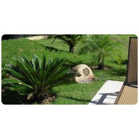 Caixa Acústica Jardim Pedra Som Ambiente 120watts Rms