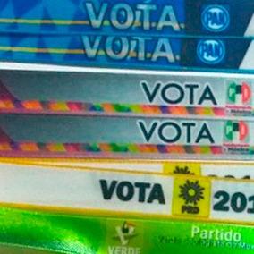1000 Pulseras Personalizadas Campañas Politica Elecciones