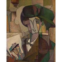Lienzo Tela Joven Con Pluma Fuente Diego Rivera 1914 Arte