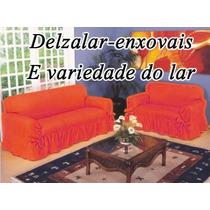 Capa De Sofá 2 E 3 Lugares Tecido Gorgurão Grosso + Brinde