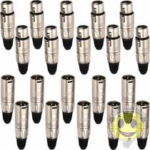 Kit Plug Xlr Santo Angelo Canon Macho / Femea - Kadu Som