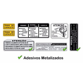 Adesivos Advertência Cg 125 76-82 Metaliz. - Frete Grátis