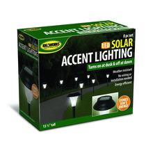 Pack De 8 Lámparas Led Solares Para Decoración Jardin Hogar