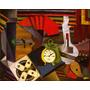 Lienzo Tela Calle El Reloj De Alarma Diego Rivera 1914 50x62