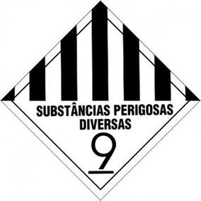 Adesivo Vinil Substancias Perigosas Diversas 9 30x30
