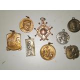 Lote De 8 Antiguas Medallas Religiosas