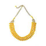 Collar Big Cleopatra Metalizado Yellow Las Penelope