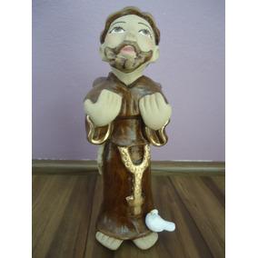 Imagem Gesso São Francisco 20cm Escultura Fino Acabamento